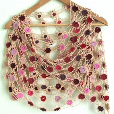 Crochet cotton lace shawls